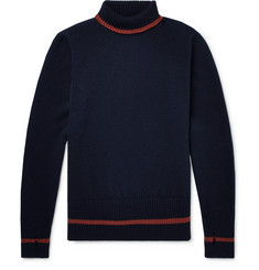 Oliver Spencer Talbot Contrast-Trimmed Wool Rollneck Sweater
