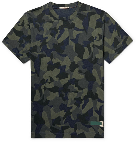NUDIE JEANS | Nudie Jeans - Daniel Camouflage-print Organic Cotton-jersey T-shirt - Army green | Goxip