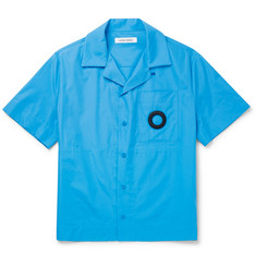 Camp Collar Embroidered Cotton Poplin Shirt by Craig Green