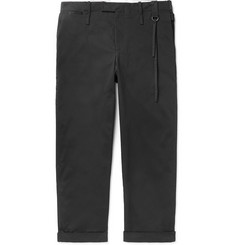 Craig Green Black Wide-Leg Cotton-Blend Twill Trousers