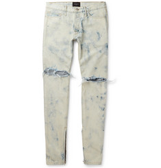 Fear of God - Holy Water Skinny-Fit Distressed Selvedge Denim Jeans