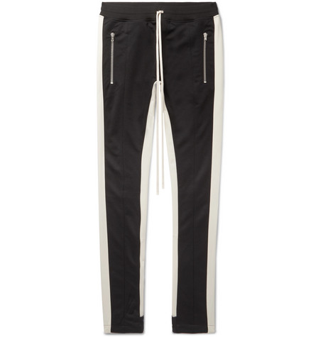 Slim Fit Tapered Contrast Trimmed Jersey Sweatpants by Fear Of God