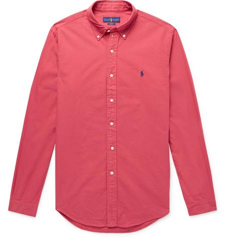 2b8ad373ce5 Polo Ralph Lauren Slim-Fit Button-Down Collar Garment-Dyed Cotton Oxford  Shirt