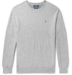 폴로 랄프로렌 Polo Ralph Lauren Honeycomb-Knit Pima Cotton Sweater,Light gray