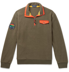 Polo Ralph Lauren Contrast-Trimmed Fleece Half-Zip Sweatshirt