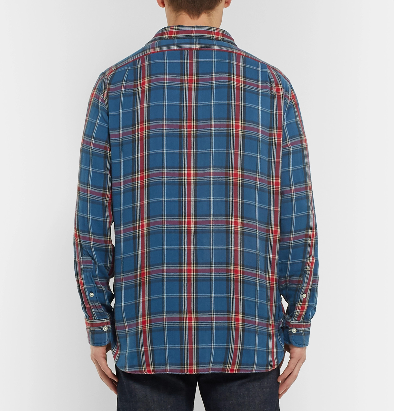 26e0f92ce Polo Ralph LaurenChecked Double-Faced Cotton-Flannel Shirt. Was £106.36Now  £45.84 / Approx. NT$1,808.6750% off. Tap to Close. 1