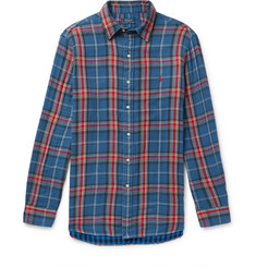 폴로 랄프로렌 셔츠 Polo Ralph Lauren Checked Double-Faced Cotton-Flannel Shirt