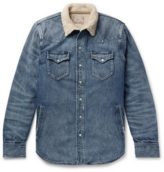 Polo Ralph Lauren Sherpa-Lined Denim Western Shirt Jacket
