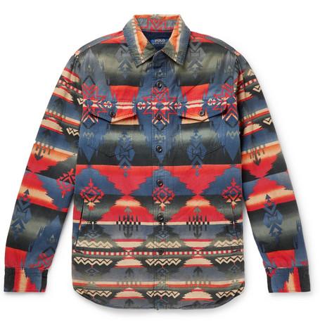 Polo Ralph Lauren – Sherpa-lined Cotton-jacquard Shirt Jacket – Multi