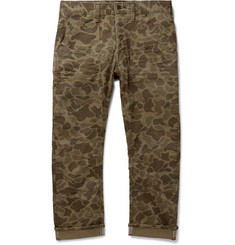 Polo Ralph Lauren Cropped Reflective-Trimmed Camouflage-Print Cotton-Blend Twill Trousers