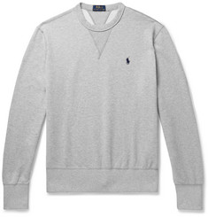 Polo Ralph Lauren Mélange Fleece-Back Cotton-Blend Jersey Sweatshirt
