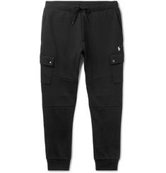 폴로 랄프로렌 Polo Ralph Lauren Slim-Fit Jersey Cargo Sweatpants,Black