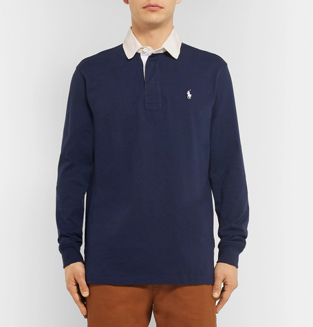 Contrast Trimmed Cotton Jersey Polo Shirt by Polo Ralph Lauren