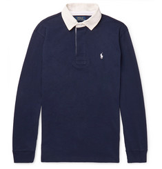 Polo Ralph Lauren Contrast-Trimmed Cotton-Jersey Polo Shirt