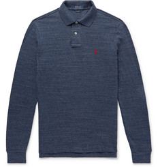 Polo Ralph Lauren Mélange Cotton-Piqué Polo Shirt