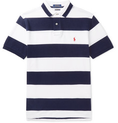 Polo Ralph Lauren Slim-Fit Striped Cotton-Piqué Polo Shirt