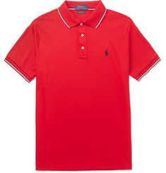 Polo Ralph Lauren Slim-Fit Contrast-Tipped Cotton-Jersey Polo Shirt