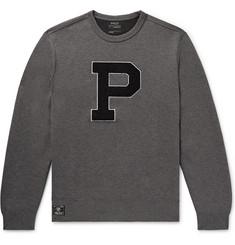 cab48a6be839 Polo Ralph Lauren - Appliquéd Mélange Jersey Sweatshirt