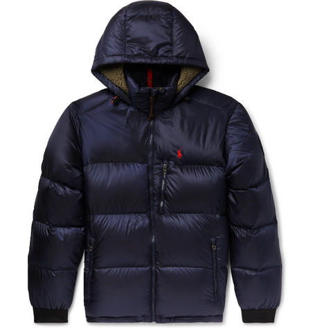 Polo Ralph Lauren – Faux Shearling-trimmed Quilted Shell Down Jacket – Navy