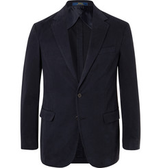 Polo Ralph Lauren Navy Slim-Fit Unstructured Cotton-Blend Twill Blazer