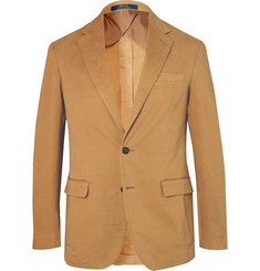 Polo Ralph Lauren Tan Slim-Fit Unstructured Stretch-Cotton Twill Blazer