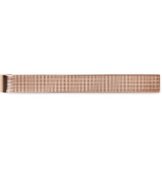 Kingsman + Deakin & Francis Hobnail-Textured Rose Gold-Plated Sterling Silver Tie Bar