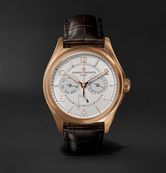 Vacheron Constantin Fiftysix Day-Date Automatic 40mm 18-Karat Pink Gold and Alligator Watch