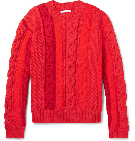 Helmut Lang - Cable-Knit Sweater 813a32415