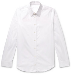 Helmut Lang Slim-Fit Logo-Print Cotton-Poplin Shirt