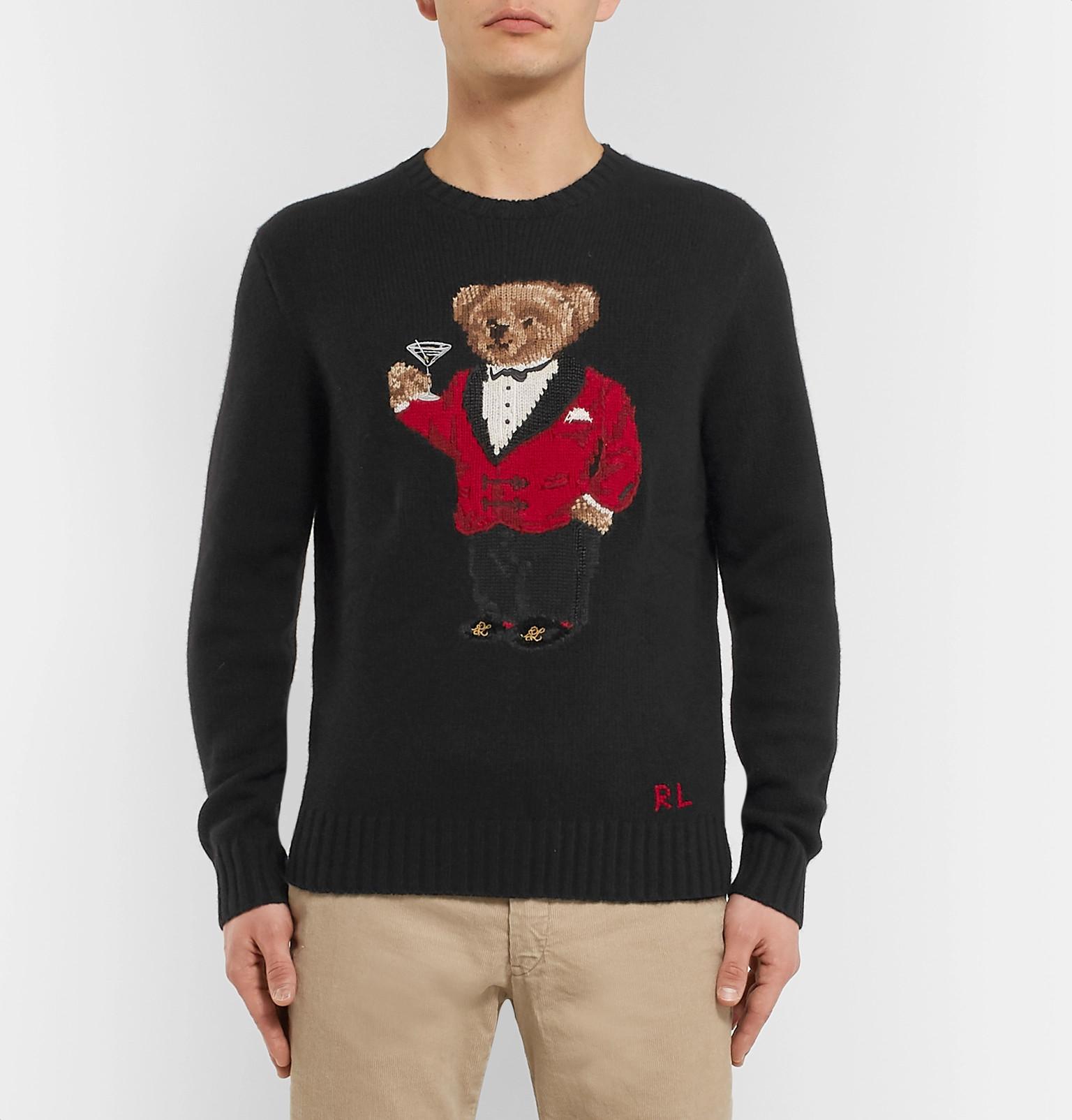 f7348d9b47244 Polo Ralph Lauren - Bear-Intarsia Wool Sweater