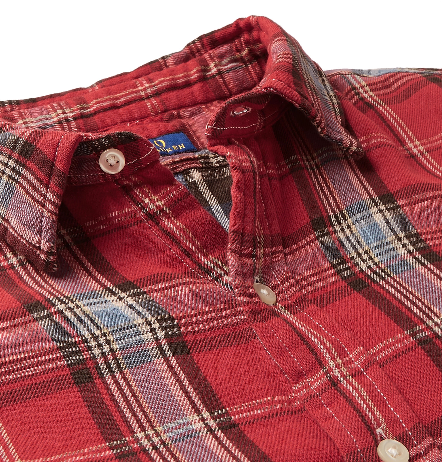 634ef180a Polo Ralph Lauren - Double-Faced Checked Cotton-Flannel Shirt
