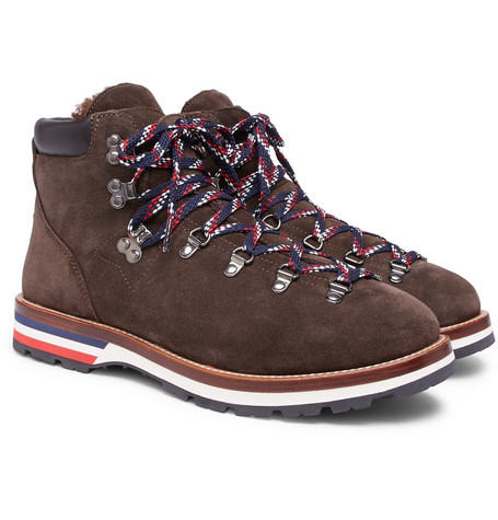 Moncler – Peak Shearling-lined Suede Boots – Brown