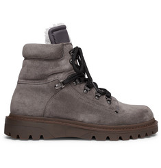Moncler - Egide Shearling-Lined Suede Walking Boots