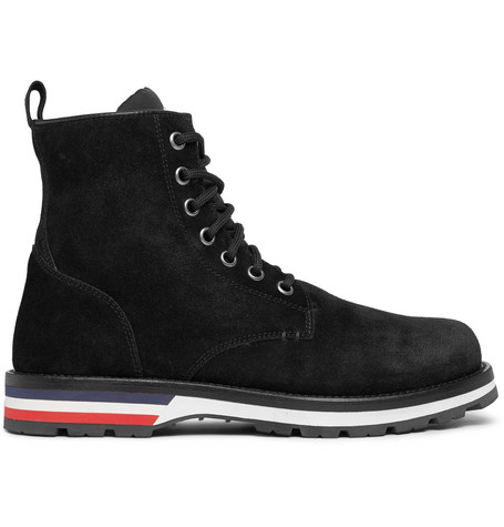 Moncler – New Vancouver Shearling-lined Suede Boots – Black