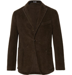 Boglioli - Dark-Green Slim-Fit K-Jacket Cotton-Corduroy Blazer