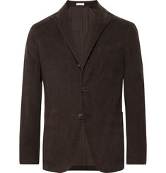 Boglioli - Dark-Olive Unstructured Stretch-Cotton Corduroy Suit Jacket