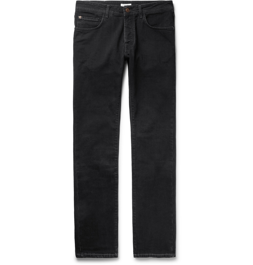 Slim-fit Stretch-denim Jeans - Black