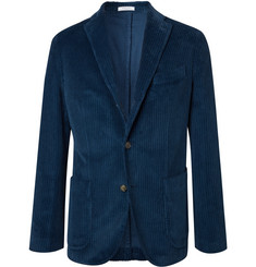 Boglioli Navy Cotton-Corduroy Suit Jacket