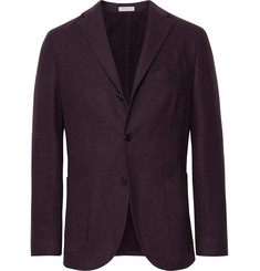 Boglioli - Merlot K-Jacket Slim-Fit Garment-Dyed Felted Wool Blazer
