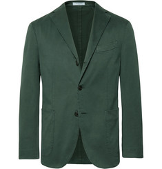 Boglioli - Dark-Green Slim-Fit Unstructured Stretch-Cotton Drill Suit Jacket