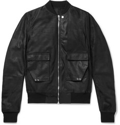 Rick Owens Cop Flight Blistered-Leather Bomber Jacket