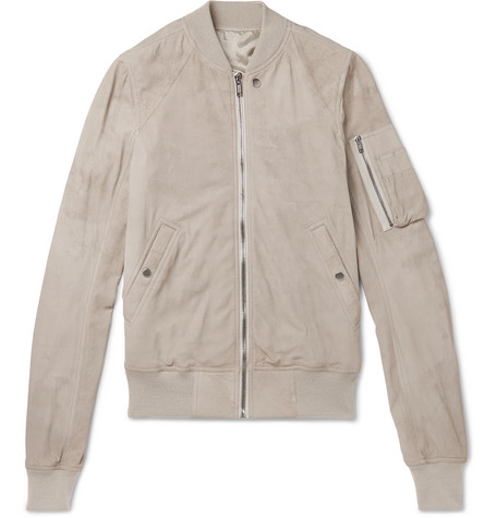 Flight Suede Bomber Jacket by Rick Owens