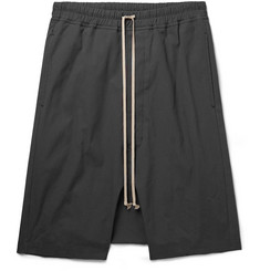 Rick Owens Pod Stretch-Cotton Drawstring Shorts