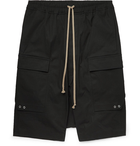 Pod Stretch Cotton Cargo Shorts by Rick Owens