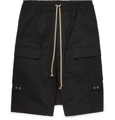 Rick Owens Pod Stretch-Cotton Cargo Shorts
