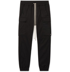 Rick Owens Skinny-Fit Cotton Cargo Sweatpant