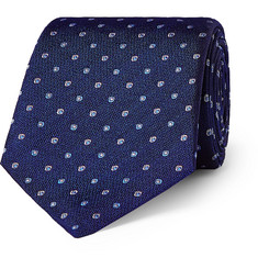 Turnbull & Asser 8cm Embroidered Silk Tie