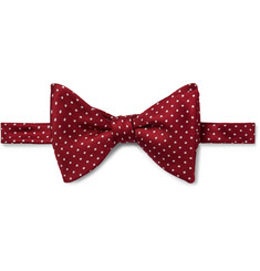 Turnbull & Asser Pre-Tied Pin-Dot Silk-Faille Bow Tie