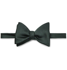 Turnbull & Asser Pre-Tied Puppytooth Silk-Jacquard Bow Tie