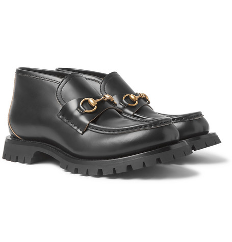 Django Horsebit Leather Loafers by Gucci